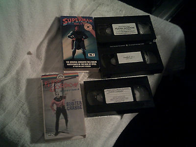 Superman & Flash Gorden Action Adventure  VHS Lot of 3 Tapes Kids G NTSC Heroes