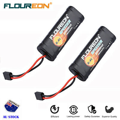 2x 8.4V 3000mAh 7Cell Ni-MH Battery Traxxas for RC Car Helicopter Airplane Hobby