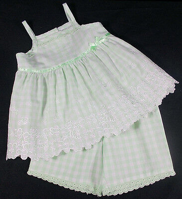 George baby girl shorts sun top set green 3-6 months cotton