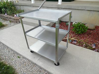 Stainless Steel Utility Cart 18 x 30 x 33 ROCUS FOODSERVICE LLC ITEM # 90322