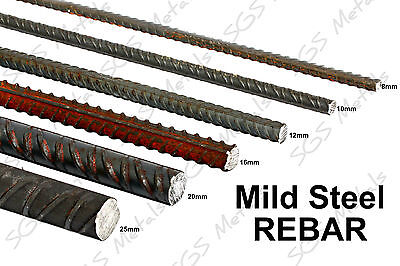 Mild Steel REBAR 12 Lengths to choose from & 6 Diameters available