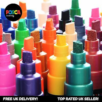 Uni Posca Paint Marker Pen PC-8K - Full Range Pro 34 Pen Set - All Colours