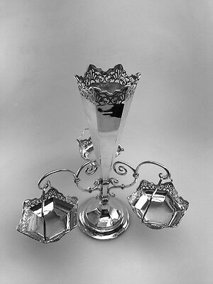 A LOVELY SILVER EPERGNE/ CENTRE PIECE - SHEFFIELD - 1912 by JAMES DIXON