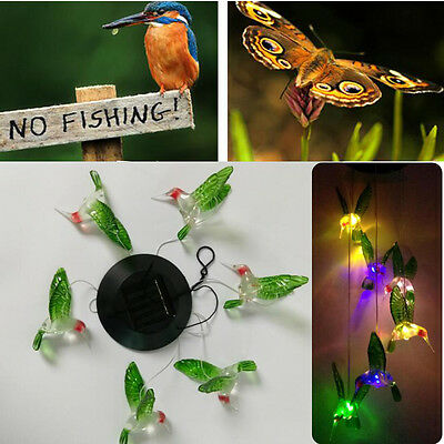 Solar Lamp Color Changing LED Wind Chimes Light Hanging Home Garden Decor