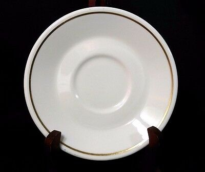 "*RARE* Syracuse China Syralite Restaurant Ware 5 7/8"" Saucer Gold Stripe"