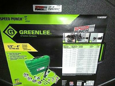 """NEW Greenlee 7310SBSP Speed Punch Hydraulic Knockout Set 1/2""""-4"""" 7310"""