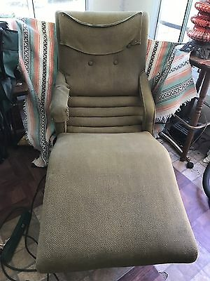 Vintage Contour Lounge Chair With Motor Vibration Mid-Century Works!
