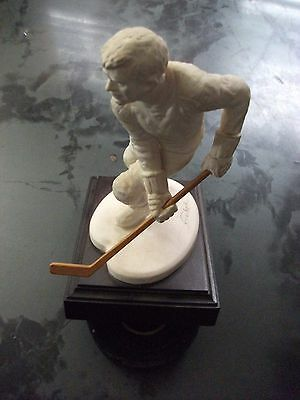 Vintage Goebel Limited Edition Hockey Player Incredibly Rare With Original Stick