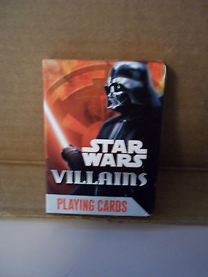 Star Wars Villains Playing Cards 52 Card Deck, New, Sealed, Free Shipping.