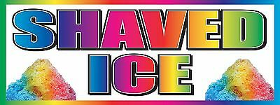3'x8' Vinyl Banner Concession Stand Food Sign - SHAVED ICE