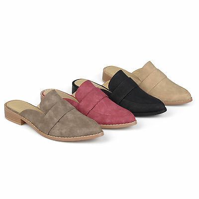 2cf4abbf0bf BRINLEY CO WOMENS Faux Leather Slip on Almond Toe Mules New -  22.99 ...