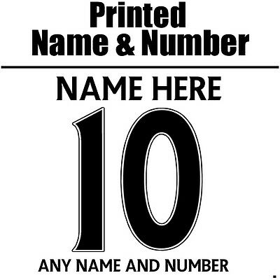 Iron On Football ANY Printed Name & Number - Premier League Style