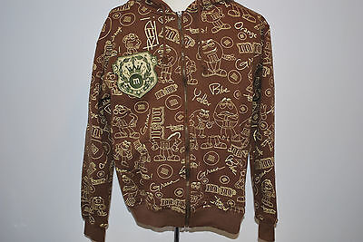 M&M candies, full zippered hoodie sweatshirt  size L chocolate color