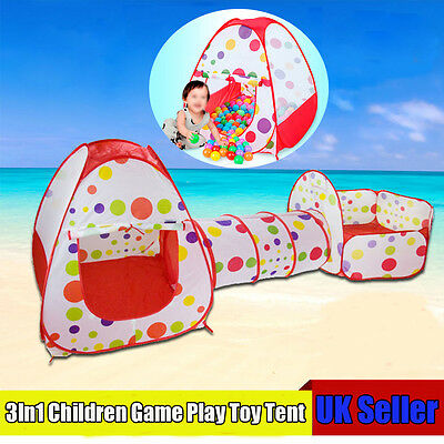 3pcs Set Outdoor/Indoor Kit Baby Children Tunnel Ball Pool Toy Tent  Play House