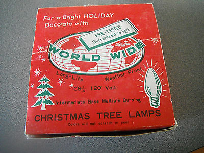 25 World Wide c9 Outdoor Christmas Lights Painted Inside Box Work FREE SHIP USA