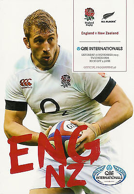 England v New Zealand 16 Nov 2013 Twickenham RUGBY PROGRAMME