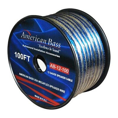 American Bass SPEAKER WIRE 12GA. 100' BLUE AMERICAN BASS ** AB12-100** 12GSP/150