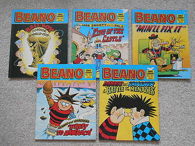 BEANO COMIC LIBRARY 1980's issue no. 89/97//99/100/101 DENNIS, LORD SNOOTY ++