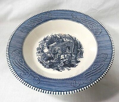Vintage CURRIER & IVES Royal China MAPLE SUGARING Round VEGETABLE Serving BOWL