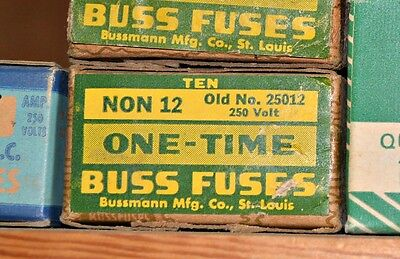 Lot of 4 Cooper Bussmann Eagle NON-12 FAST ACTING General Purpose FUSE 12A NEW