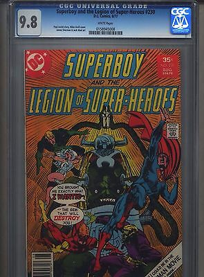 Superboy #230 CGC 9.8 (1977) Legion of Super-Heroes White Pages Highest Grade