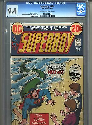 Superboy #194 CGC 9.4 (1973) Nick Cardy Cover