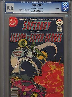Superboy #224 CGC 9.6 (1977) Legion of Super-Heroes Mile High II Only 1 @ 9.6
