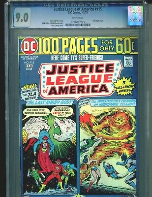 Justice League of America #115 CGC 9.0 (1975) JLA Nick Cardy Cover White Pages
