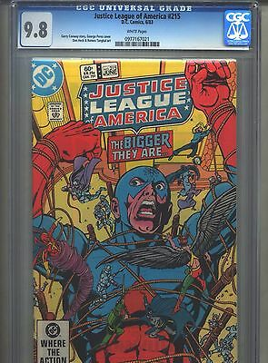 Justice League of America #215 CGC 9.8 (1983) White Pages Highest Grade