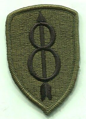 Vietnam Era US Army 8th Infantry Division OD Subdued Patch