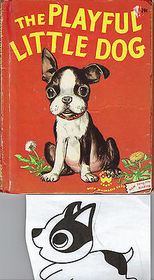 The Playful Little Dog Jean Berg  Boston Terrier, Wonder Bk Vintage dogs fun