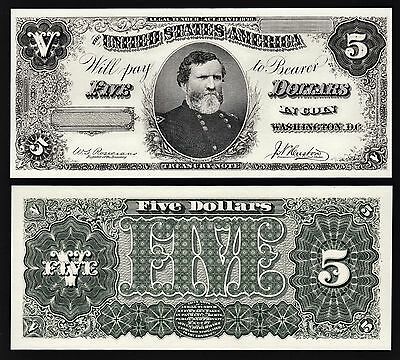 2 BEP Proof Prints or Intaglio Impressions - Face & Back of 1890 $5 Treasury