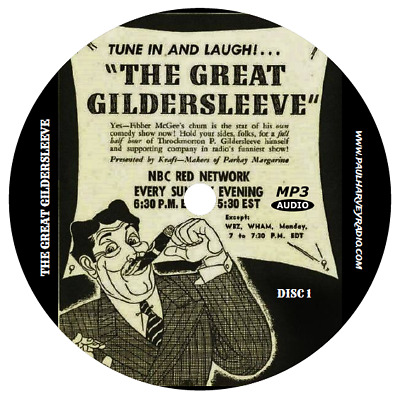 Great Gildersleeve (510 Shows) Old Time Radio Mp3 6-Cd's
