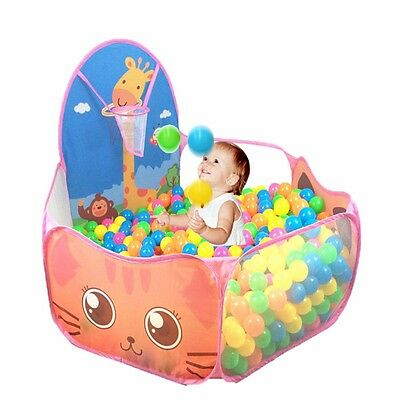 Portable Children Kids Game Play Toy Tent Ocean Ball Pit Pool Outdoor/Indoor US