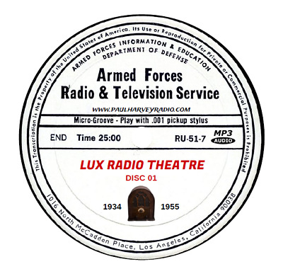 Lux Radio Theater Theater (767 Shows) Otr Mp3 19 Cd's