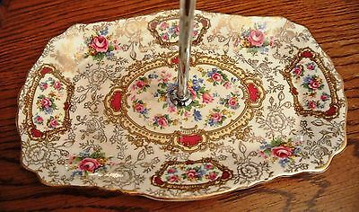 Old Foley James Kent Staffordshire Pomadour Pattern-Sm Tray w/Handle