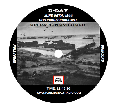 Cbs D-Day Radio Broadcast (24 Shows) Old Time Radio Mp3 Cd