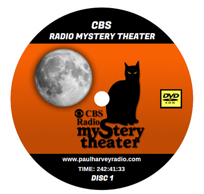 Cbs Radio Mystery Theater (1,399 Shows) Otr Mp3 5 Dvd's