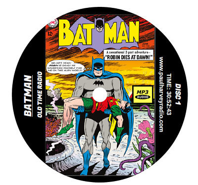 Batman (20 Shows) Old Time Radio Mp3 Cd
