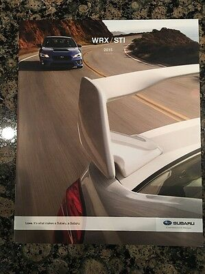 2015 Subaru WRX STI USA Market Color Brochure Catalog