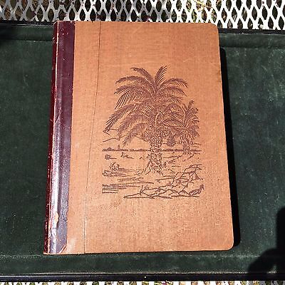 Antique box shaped like Book Palm Tree Dates Indio California Gourmets Delight