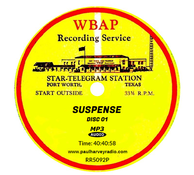 Suspense (915 Shows) Otr Mp3 11 Cd's