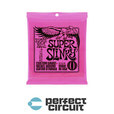Ernie Ball 2223 Super Slinky Electric STRINGS - NEW - PERFECT CIRCUIT