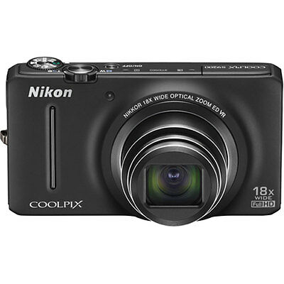 Nikon COOLPIX S9200 16MP 18x Opt Zoom 3.0 LCD Digital Camera (Black)
