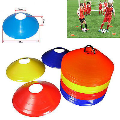 60-120 PCS Sports Training Discs Markers Cones Soccer Rugby Exercise AFL TOUCH