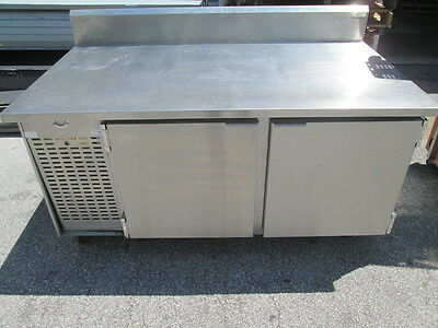 "67"" Wide Stainless Steel Sandwich Prep Table w/ 2 Door Refrigerator Cooler 115V"
