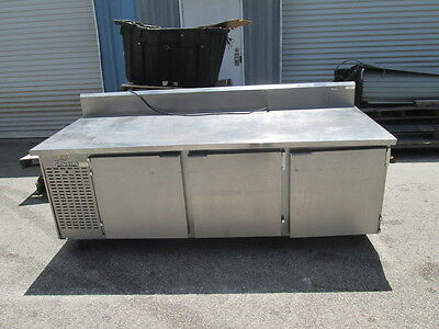 "Edwards 93"" Stainless Steel Prep Table Cooler Sandwich Pizza Salad 3 Door"