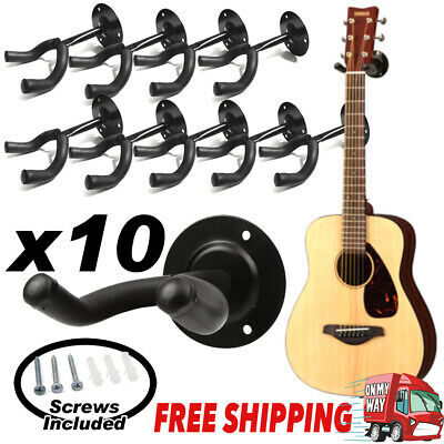 10x Padded Guitar Wall Mounting Brackets Hangers Hooks Holders Display