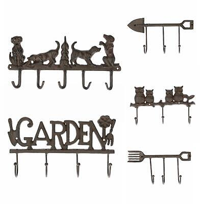 Cast Iron Wall Mounted Coat Hook Rack Decorative Design for Indoor /Outdoor Use