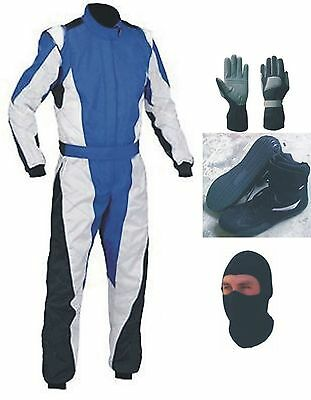 New Go Kart Race Suit and Shoes Pack with free Gift gloves balaclava
